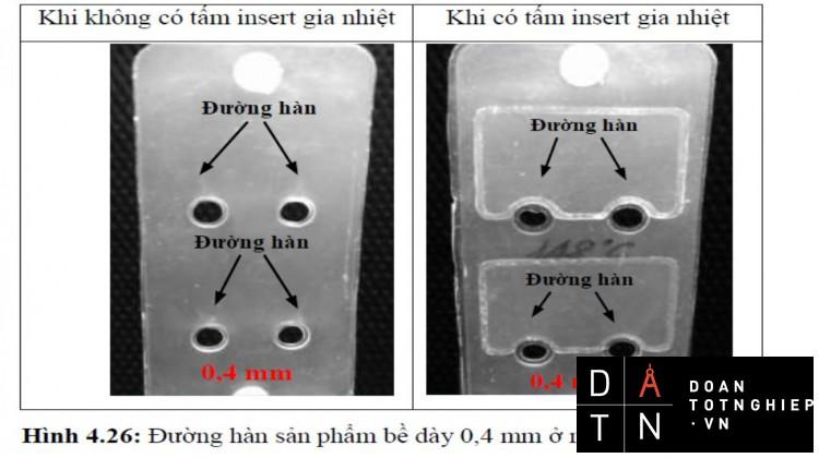 LUẬN VĂN gia nhiệt bằng khí nóng đến sự xuất hiện đường hàn của sản phẩm nhựa thành mỏng