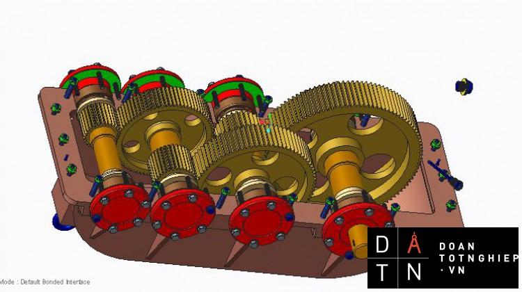 Thiết kế hệ truyền dẫn cơ khí của hệ thống băng tải P = 12 KN THIẾT KẾ 3d