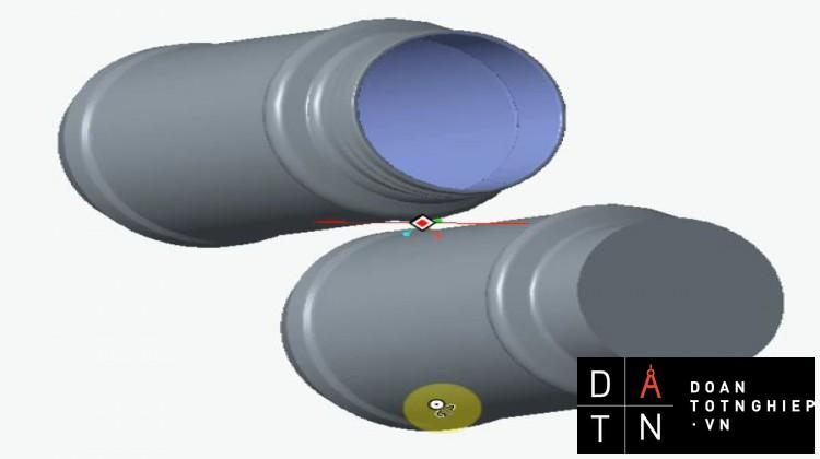 THIẾT KẾ CHI TIẾT HỦ TRÒN THẲNG 3D (Brimful Volume = 1170ml)