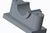 THIẾT KẾ QUY TRÌNH CÔNG NGHỆ GIA CÔNG CHI TIẾT GỐI ĐỠ MÁNG CÀO 3D phần mềm CREO