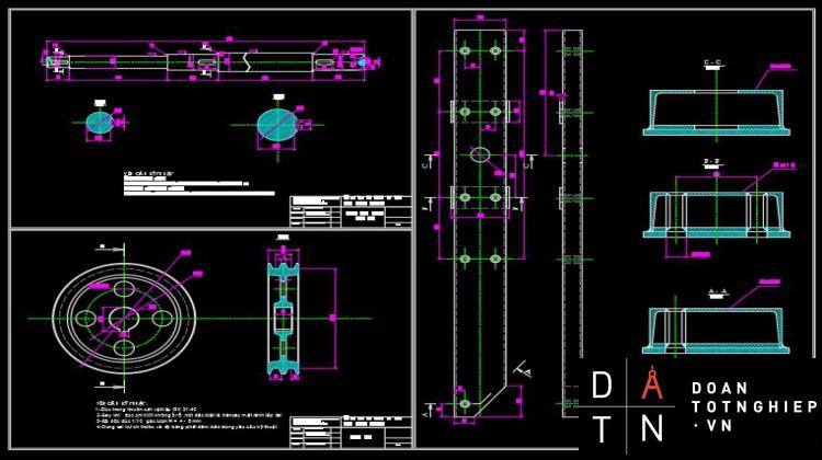 ĐỒ ÁN TỐT NGHIỆP Tính toán thiết kế một số chi tiết, cụm chi tiết thay thế trong sửa chữa máy lu rung Sakai Sv520DH