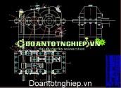 Hộp giảm tốc bánh riêng nghiêng  (Khai triển & đồng trục) đường kính trục dẫn O46